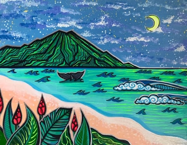 Flowers & The Sea Art | evoartmaui