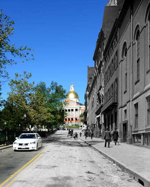 Park Street and Massachusetts State House