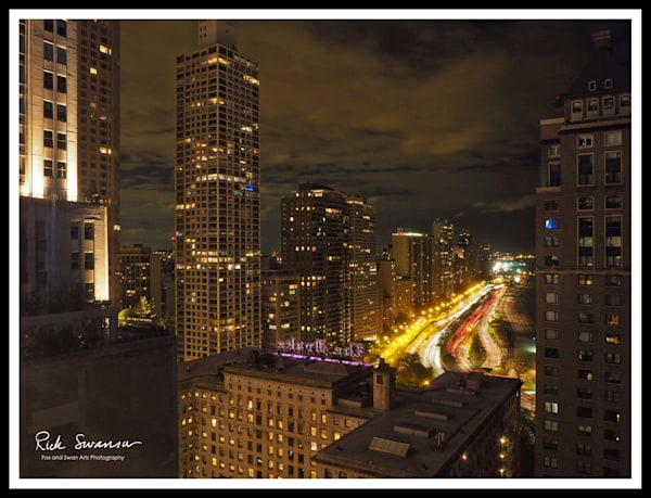 Glowing Chicago Photograph