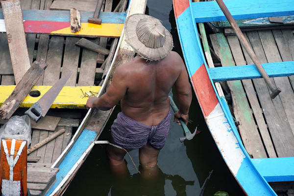 Fisherman, Taungthaman Lake, Amarapura Township, Myanmar
