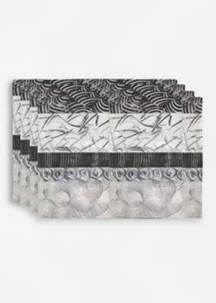 Black/White Stripe Placemats | Laurie Fields Studio