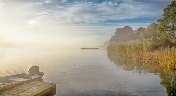 Great Tisbury Pond Fog Reeds Art | Michael Blanchard Inspirational Photography - Crossroads Gallery