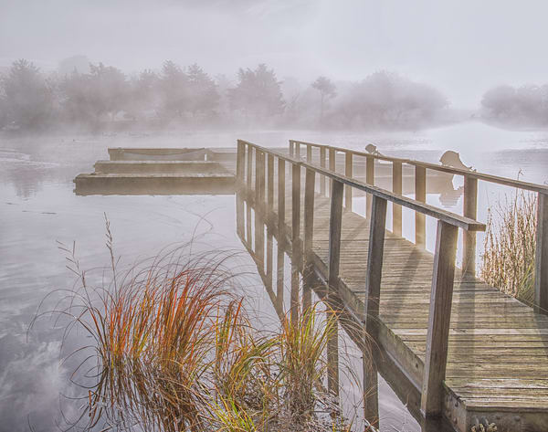 Great Tisbury Pond Fall Fog Art | Michael Blanchard Inspirational Photography - Crossroads Gallery