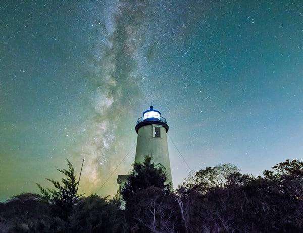 Cape Poge Light Milky Way  Photography Art | Michael Blanchard Inspirational Photography - Crossroads Gallery
