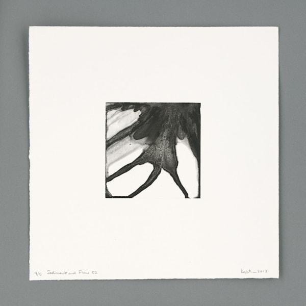Sediment & Flow 02, photopolymer gravure by Kim Gatesman