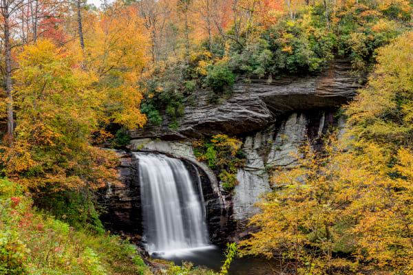 Fall At Looking Glass Falls Photography Art | Red Rock Photography