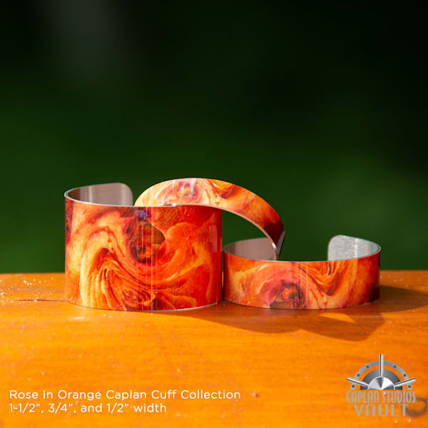 Rose In Orange Caplan Cuff