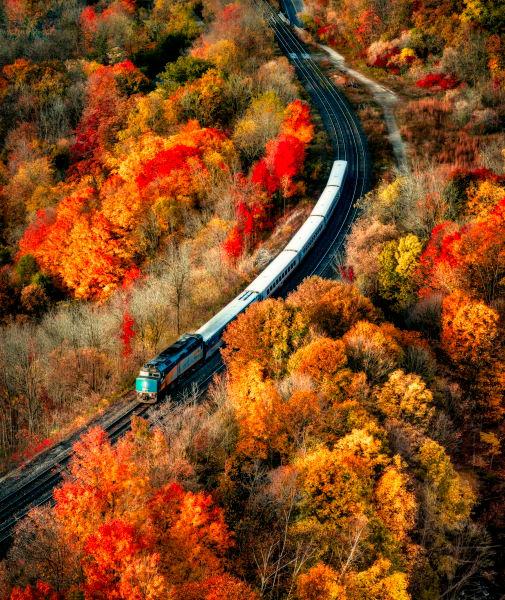 Riding The Autumn Rails Photography Art | Trevor Pottelberg Photography