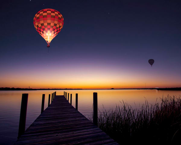 Sunrise Flight over the Lake