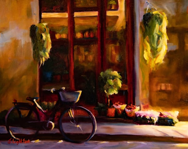 Original oil painting by Jamie Lightfoot, inspired by the streets of Florence.