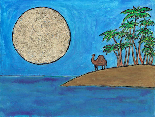 Seaside Camel Painting by Paul Zepeda - Available for Purchase - Wet Paint NYC Gallery - Original Art and Fine Art Prints