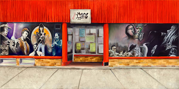"""Concert Cafe""  fine art print by Peter Koury."