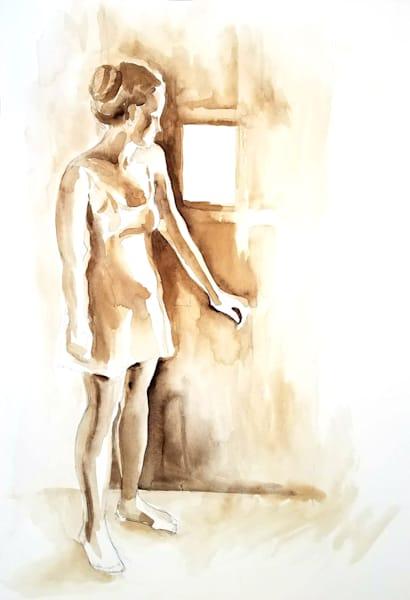 "Eve: Closed Door ""Ripe""  Original Ink Drawing  Art | Michelle Arnold Paine Fine Art"