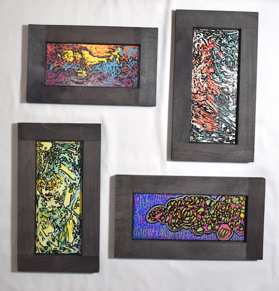 Collection Of 4: Waterfall, Riot, Campfire, Parade Art   Amy O'Hearn Art