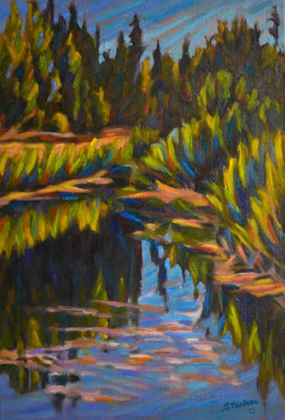 Bigelow Pond by Sherry Nielsen - Smithers BC original art
