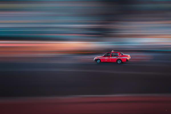 Taxi, Auto Photography, Matej Silecky, Tokyo, Japan