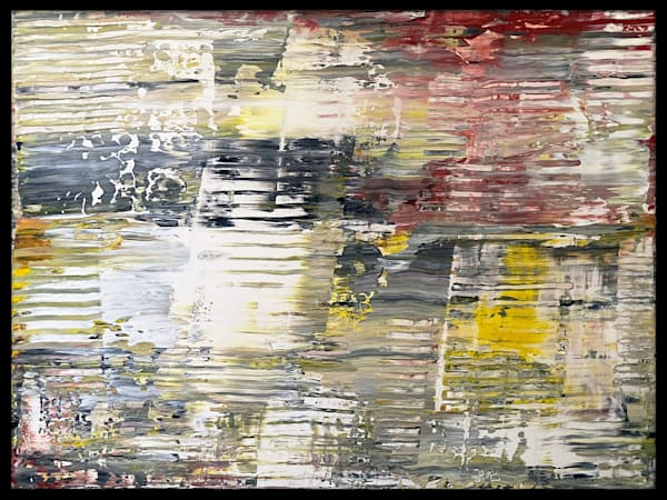 Noir neutral abstract acrylic painting
