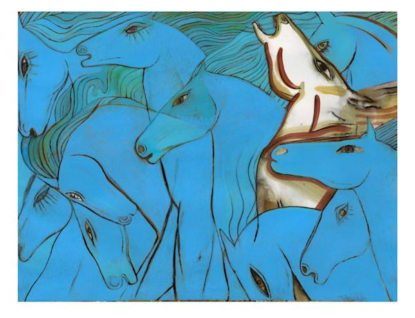 Blue Horses III