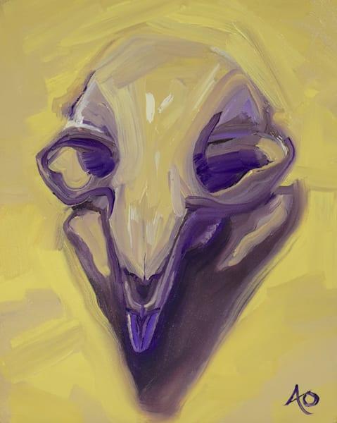 Beaver Skull #2 Art   Amy O'Hearn Art