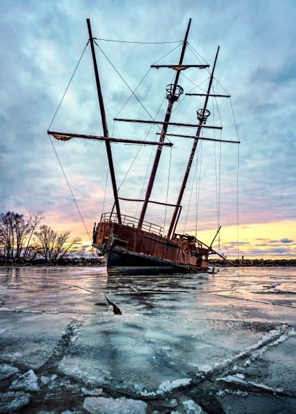 Frozen Wreck Photography Art | Trevor Pottelberg Photography