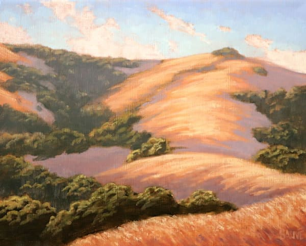 California Golden Rolling Hills painting