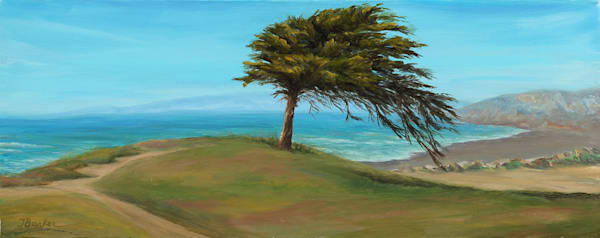 Cypress By The Sea Art | Janet Arline Barker Fine Art