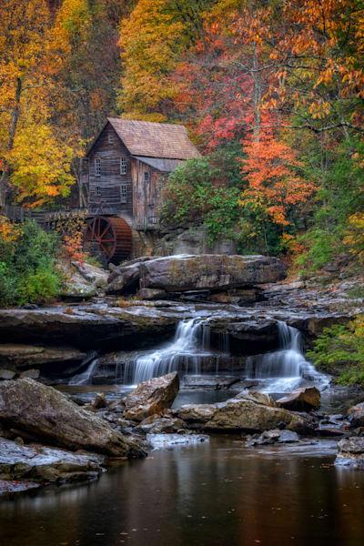 Glade Creek Grist Mill   Shop Photography by Rick Berk