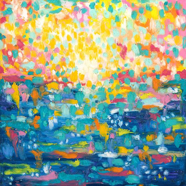 Dancing On The Water, Original Painting Art   Jessica Hughes Fine Art