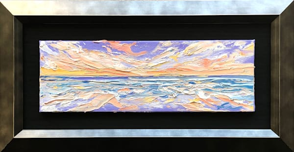 Coastal Sunset mini Painting | Fer Caggiano Art