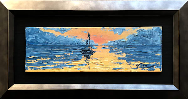 Sailing to Sunset mini Painting | Fer Caggiano Art