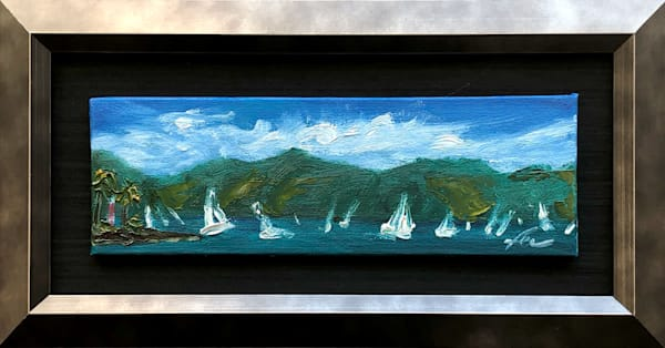 Regata em Ilhabela mini Painting | Fer Caggiano Art