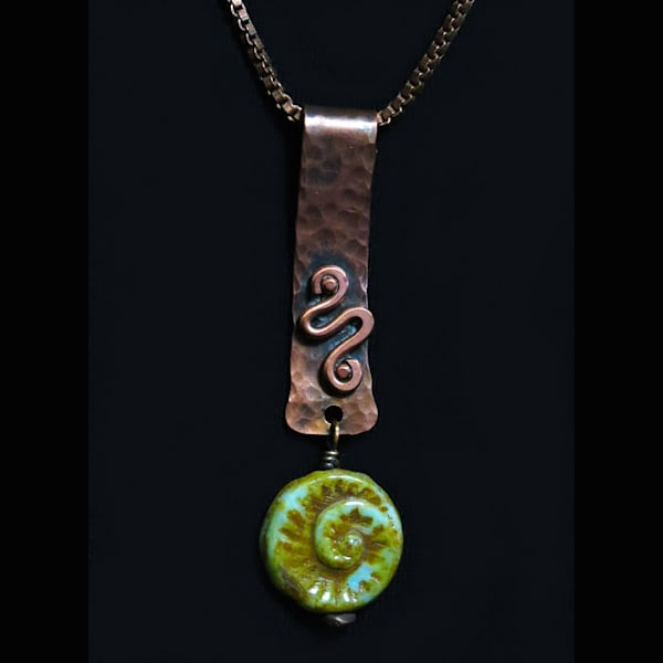 """""""Copper Wirework Pendant"""" Art 