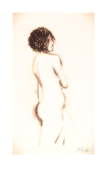 Drawings of nudes.