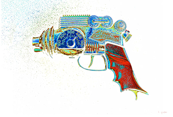 Atomic Disintegrator Ray Gun Pop Art