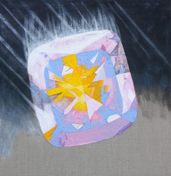 'Agneya' Fire Opal, Jewel Art by Upcycling Artist S.P. from Cool Art House