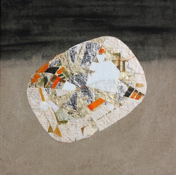 'Matarisvan' Cushion-cut Citrine' , Jewel Art by Upcycling Artist S.P. from Cool Art House