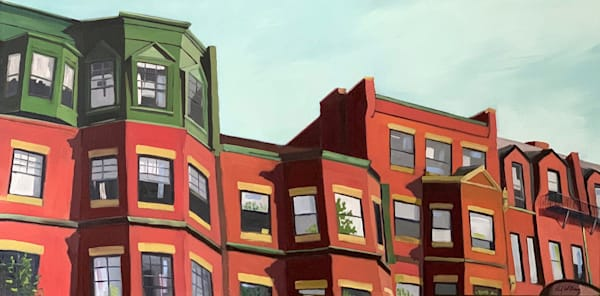 Back Bay Rooflines by Paul William Artist | Fine Art for Sale