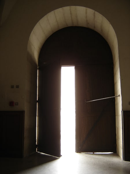 arched doorway light