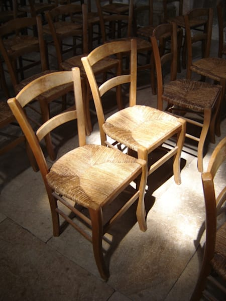 a pair of vezelay chairs