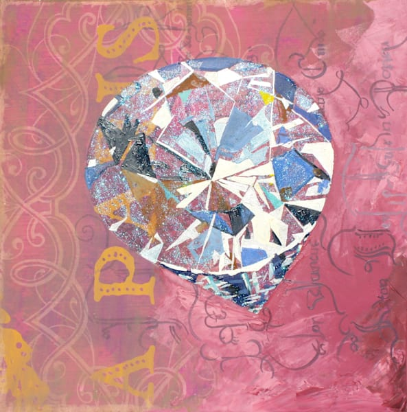 'Prometheus' Round-cut Diamond ,Jewel Art by Upcycling Artist S.P. from Cool Art House