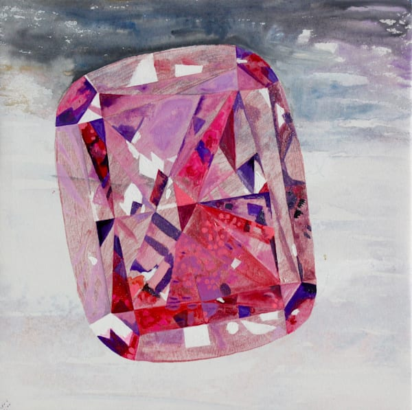 'Amirani' Purple-pink Padparadscha, Jewel Art by Upcycling Artist S.P. from Cool Art House