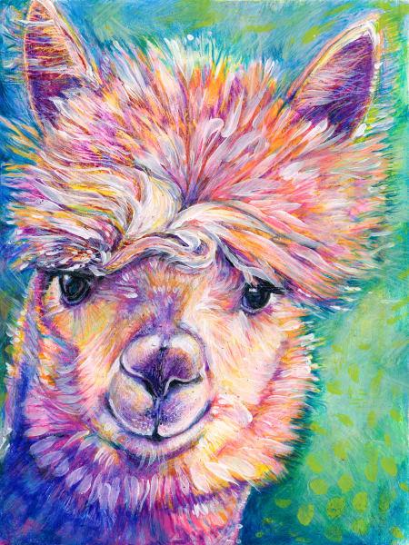 Llama Love Art | Jessica Hughes Fine Art