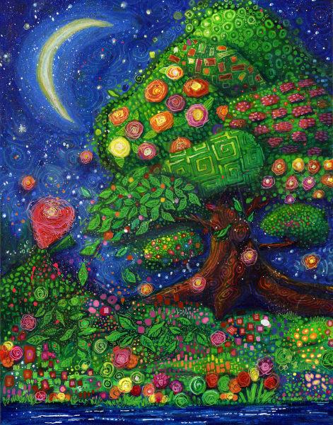 Under A Thumbnail Moon Art | Jessica Hughes Fine Art
