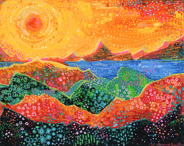 Firescape, Original Painting Art   Jessica Hughes Fine Art