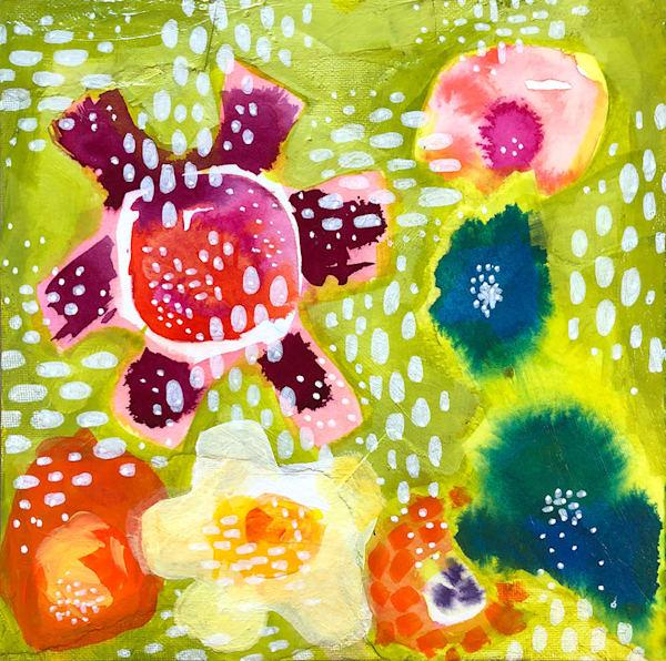 Whimsy Flowers, Original Painting Art   Jessica Hughes Fine Art