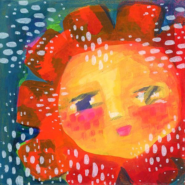 Whimsy Sun, Original Painting Art   Jessica Hughes Fine Art