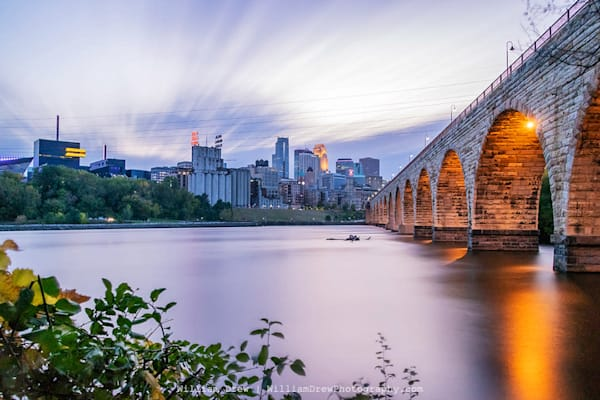 Stone Arch Bridge Skyline - Minneapolis Wall Murals | William Drew Photography