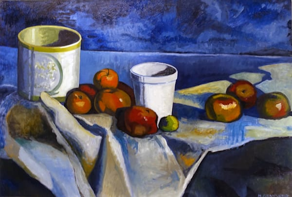 Still Life with Arctic Apples, Styrofoam Cup and Oil Can by Mark Granlund