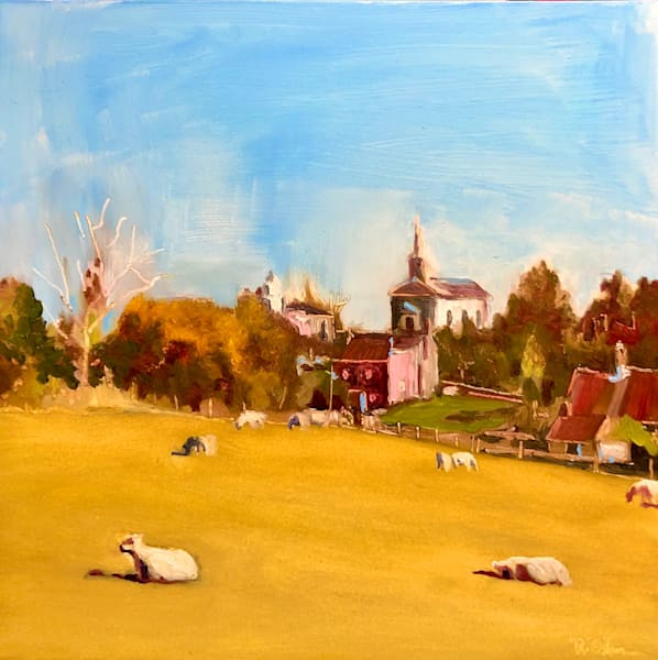 Lazy Day In The Country Counting Sheep Art | Rick Osborn Art