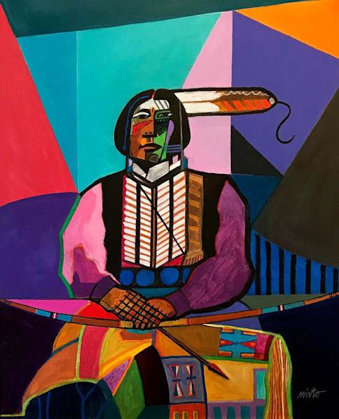 Kiowa Apache Brave by John Nieto